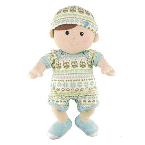 Apple Park Organic Cotton Baby Doll Apple Park Organic Dolls, Playsets & Toy Figures Blue/Green at Little Earth Nest Eco Shop
