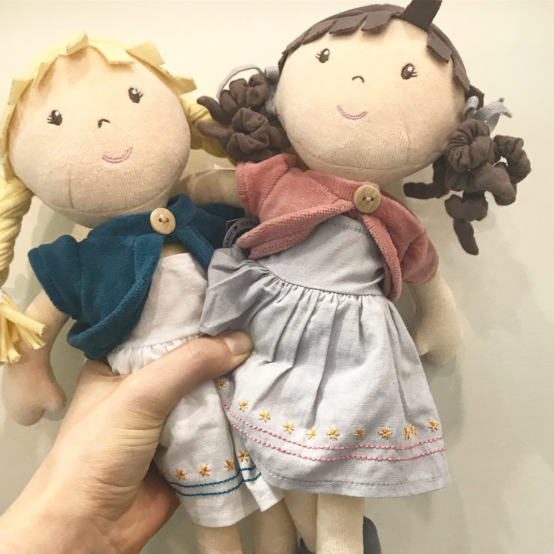 Organic Cotton Doll Bonikka General at Little Earth Nest Eco Shop