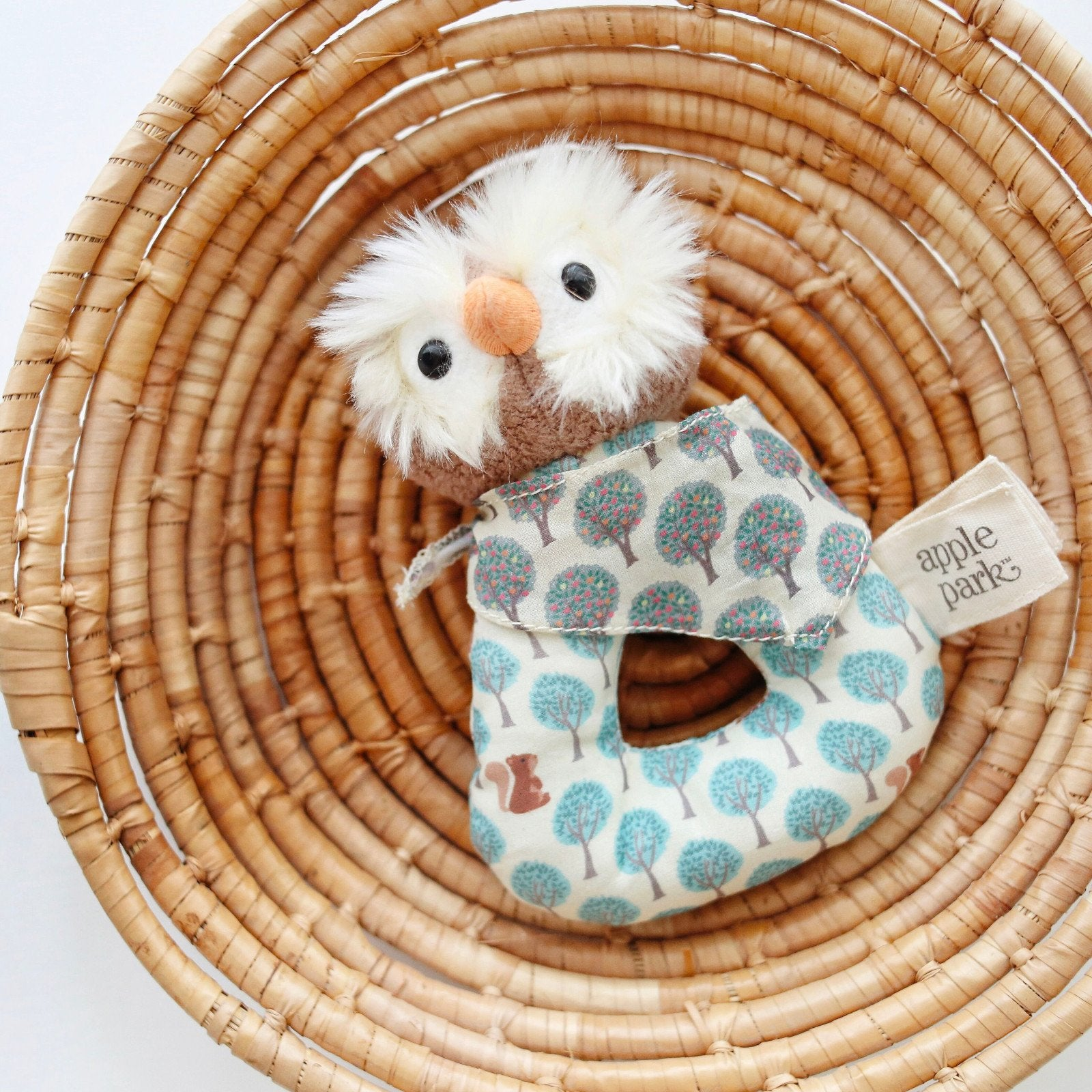 Apple Park Organic Baby Rattle Apple Park Organic Rattles at Little Earth Nest Eco Shop