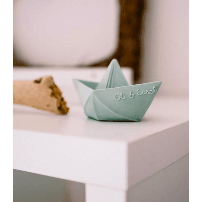 Origami Boat by Oli and Carol Oli and Carol Dummies and Teethers at Little Earth Nest Eco Shop