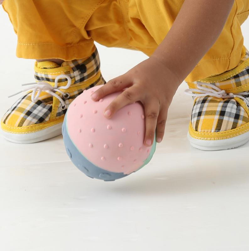 Natural Rubber Pastel Sensory Ball DSL Baby Gifts at Little Earth Nest Eco Shop