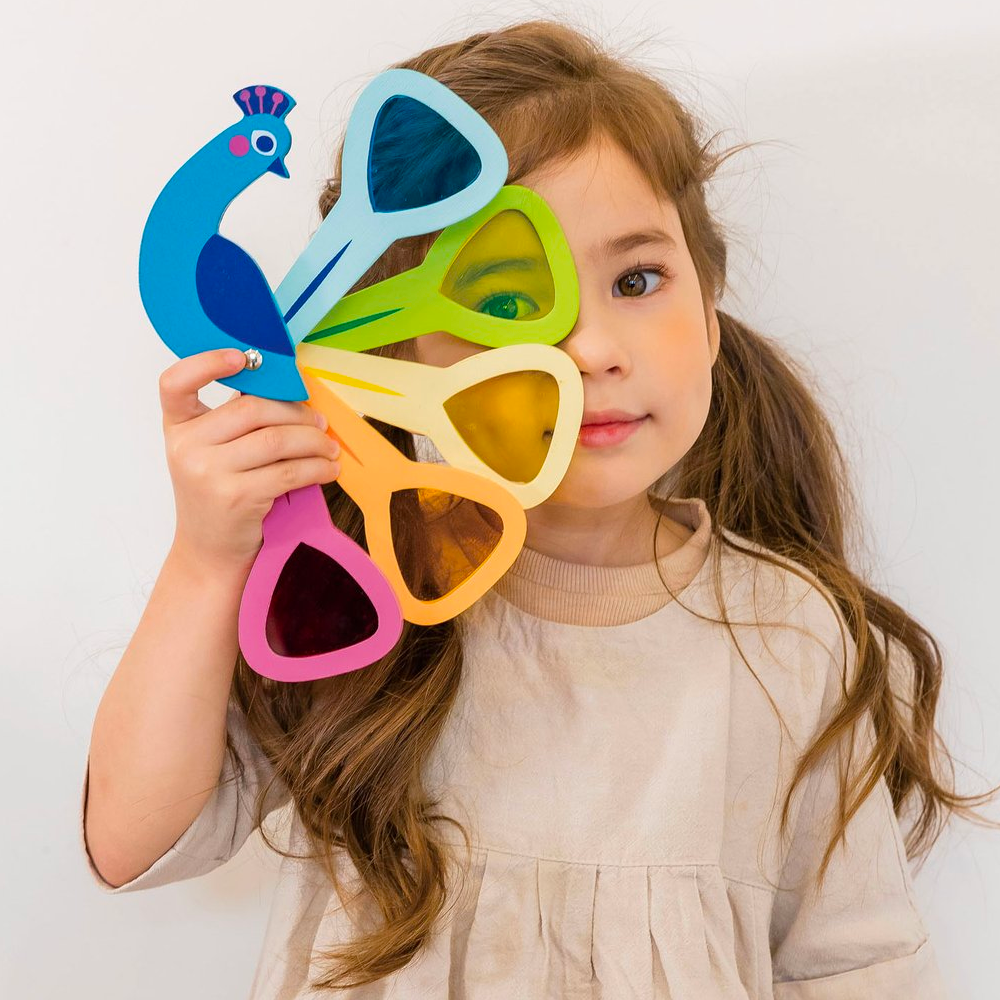 Peacock Colour Viewer Tenderleaf Toys Activity Toys at Little Earth Nest Eco Shop