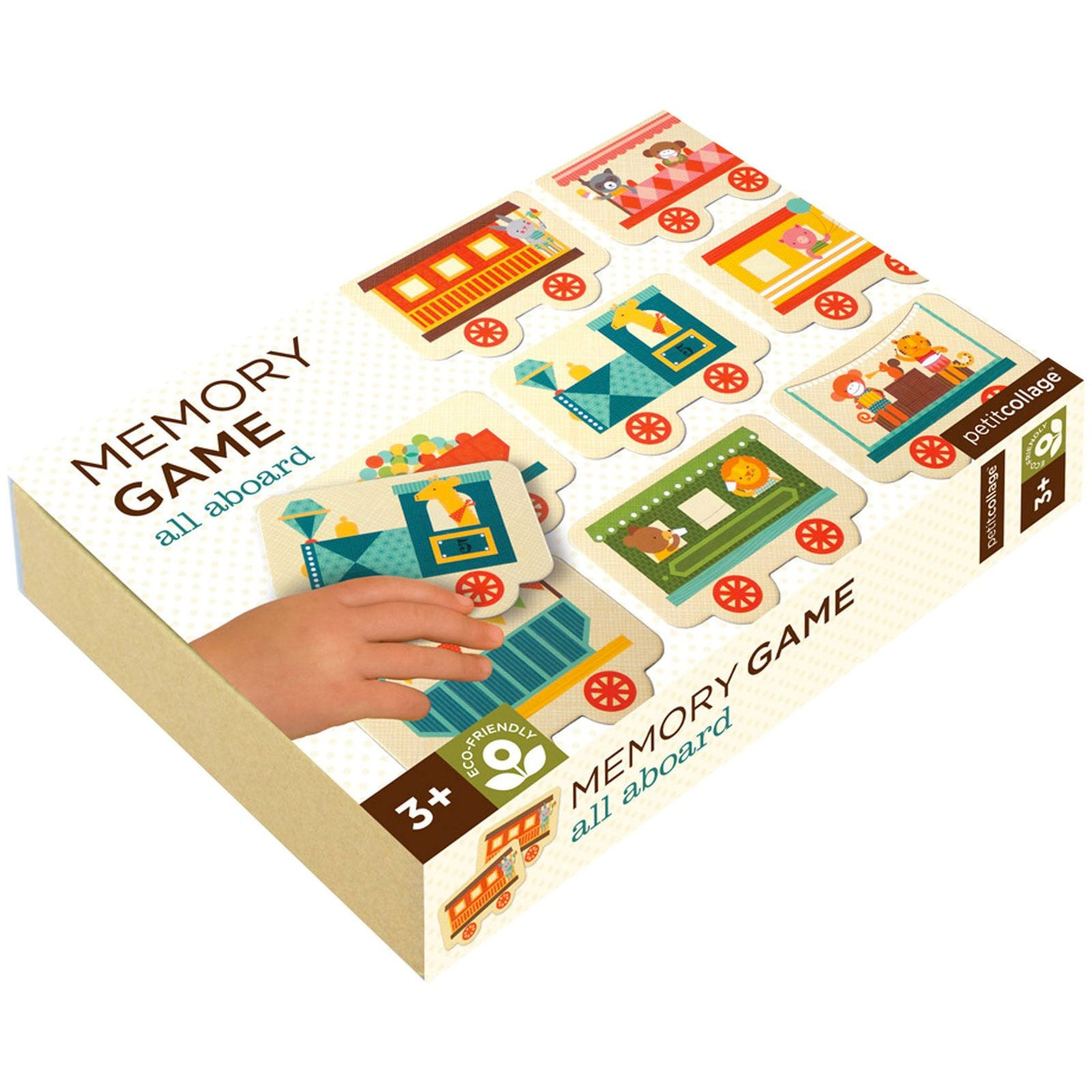 Petit Collage Memory Game Petit Collage Games All Aboard at Little Earth Nest Eco Shop