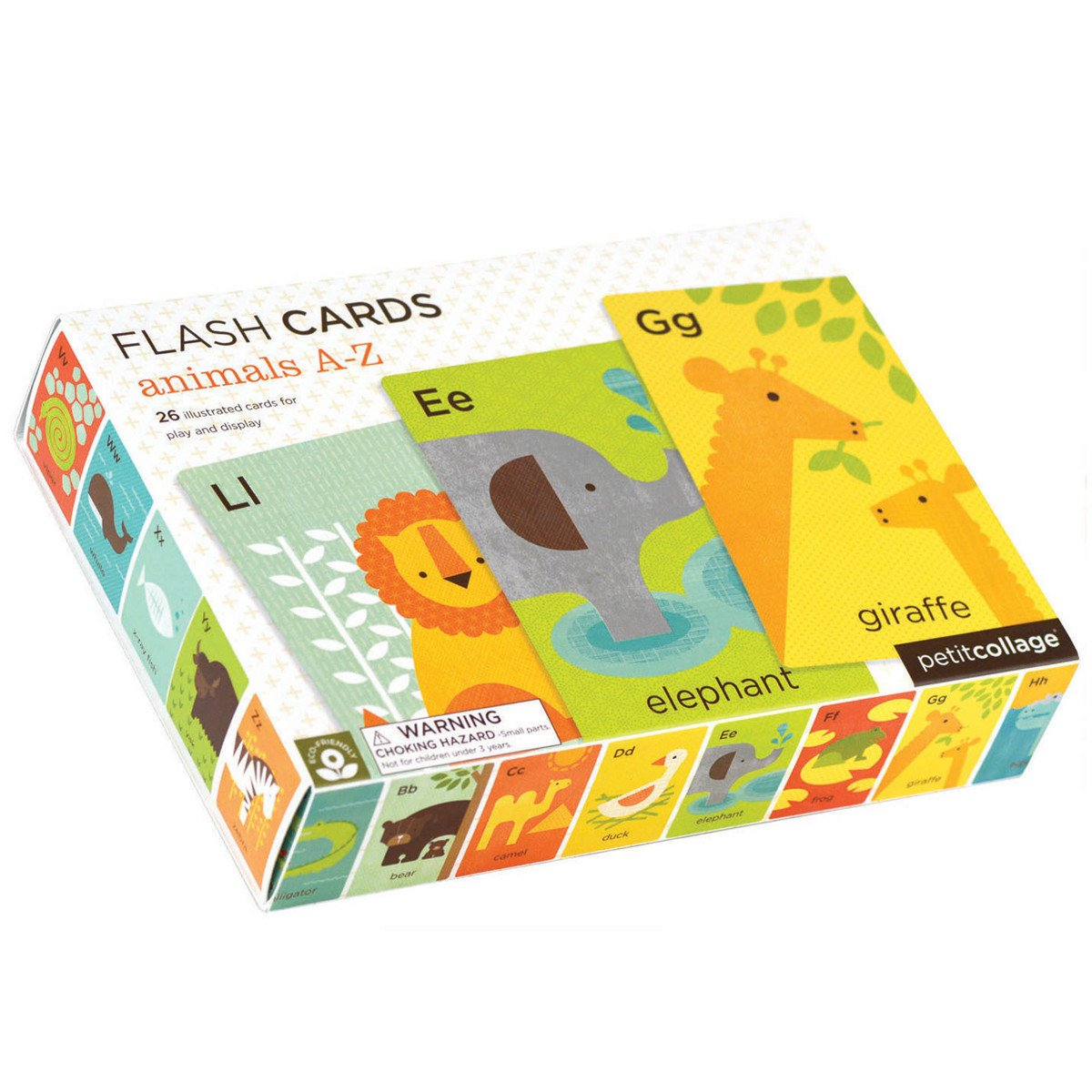Petit Collage Animals A-Z Flash Cards Petit Collage Activity Toys at Little Earth Nest Eco Shop