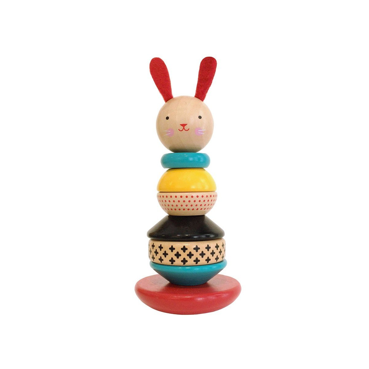 Petit Collage Stacking Rabbit Petit Collage Activity Toys at Little Earth Nest Eco Shop