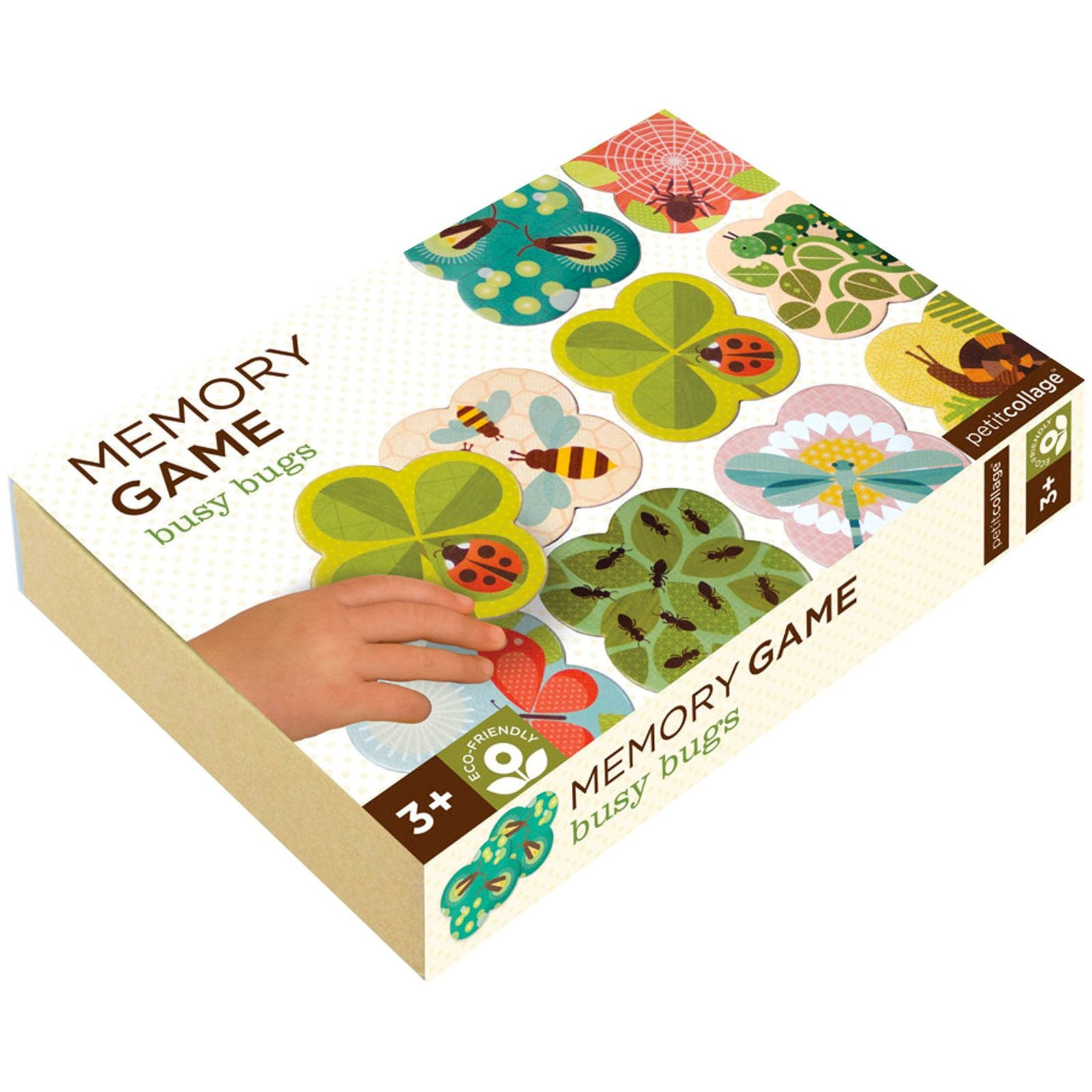 Petit Collage Memory Game Petit Collage Games Busy Bugs at Little Earth Nest Eco Shop