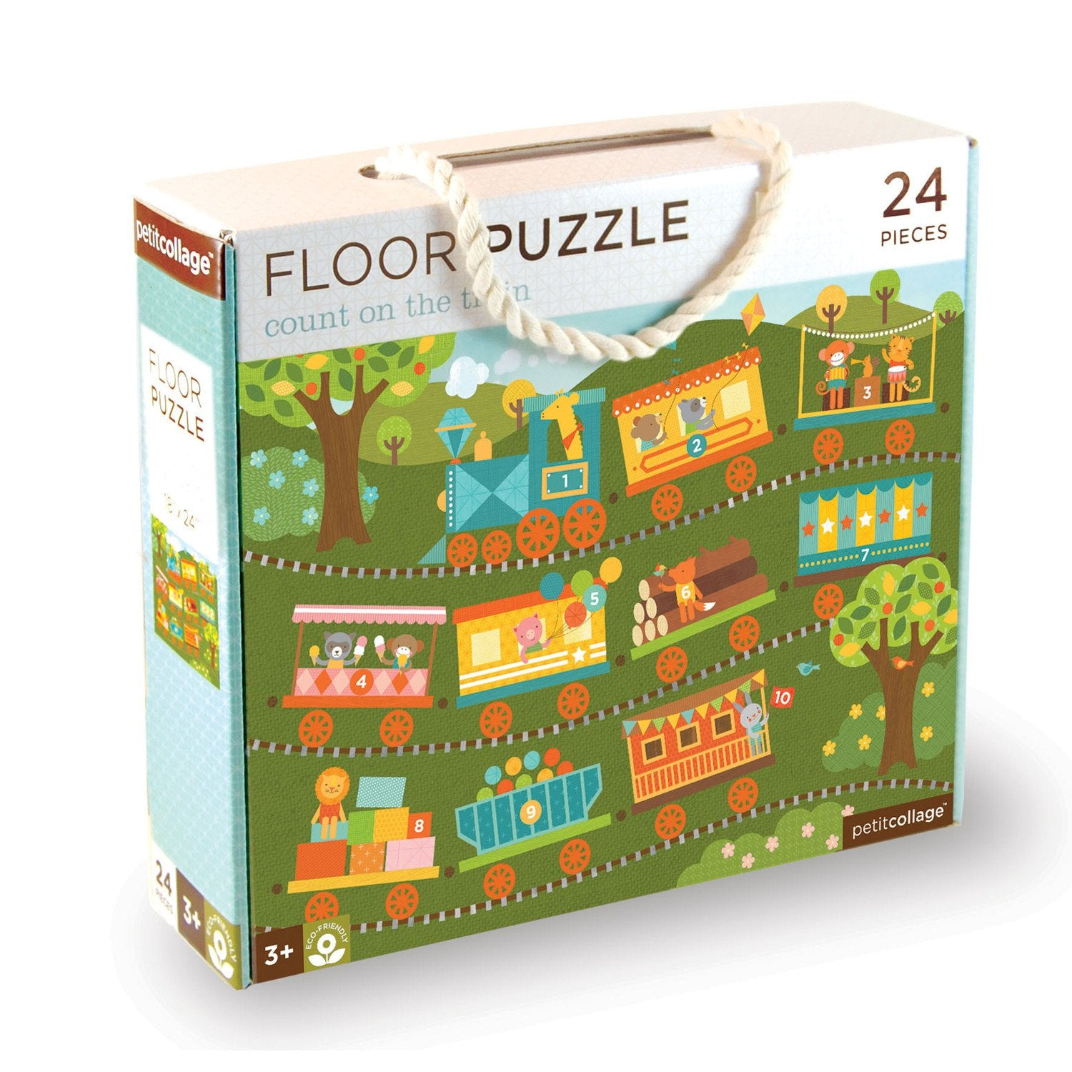Petit Collage Floor Puzzles Petit Collage Puzzles Count On The Train at Little Earth Nest Eco Shop
