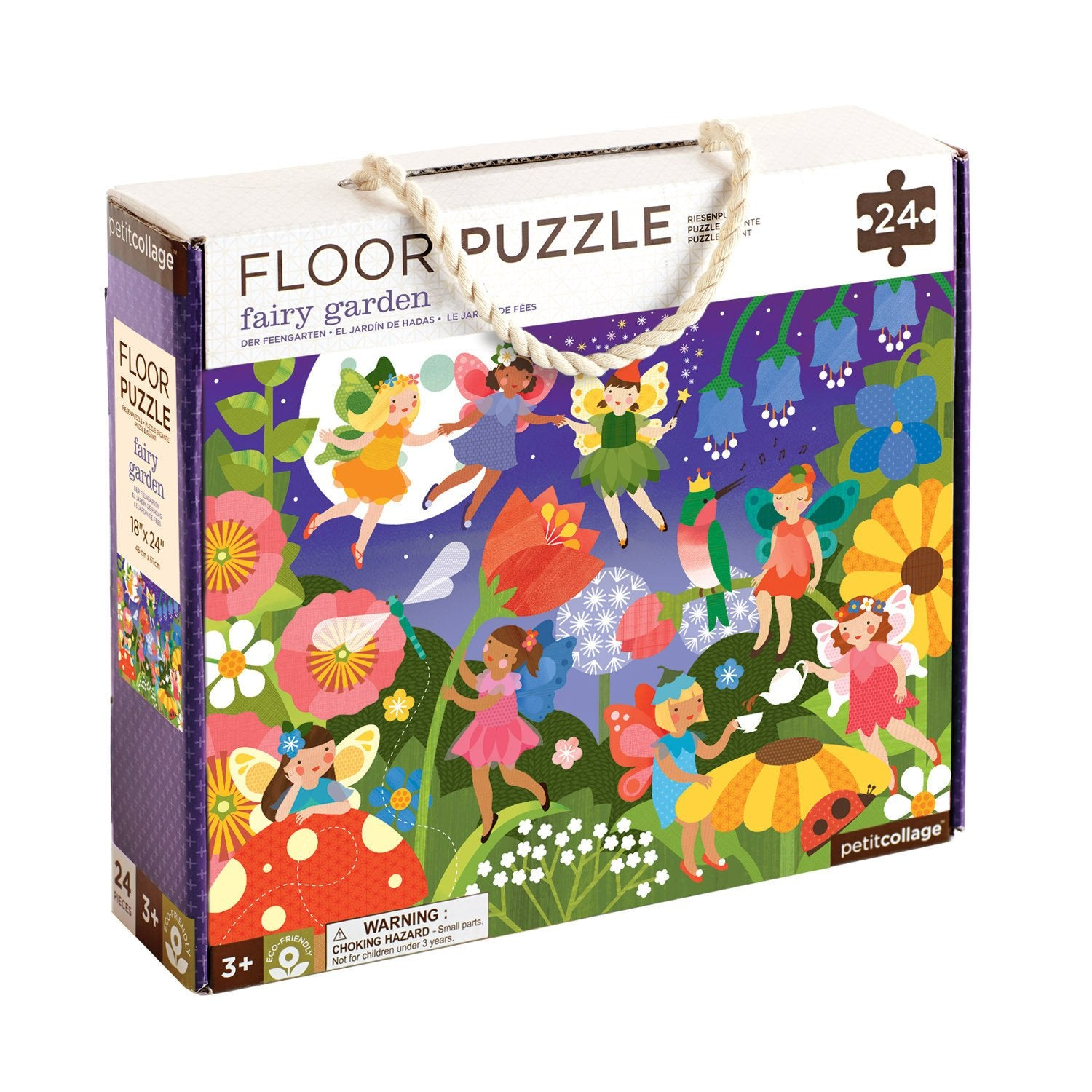 Petit Collage Floor Puzzles Petit Collage Puzzles Fairy Garden at Little Earth Nest Eco Shop