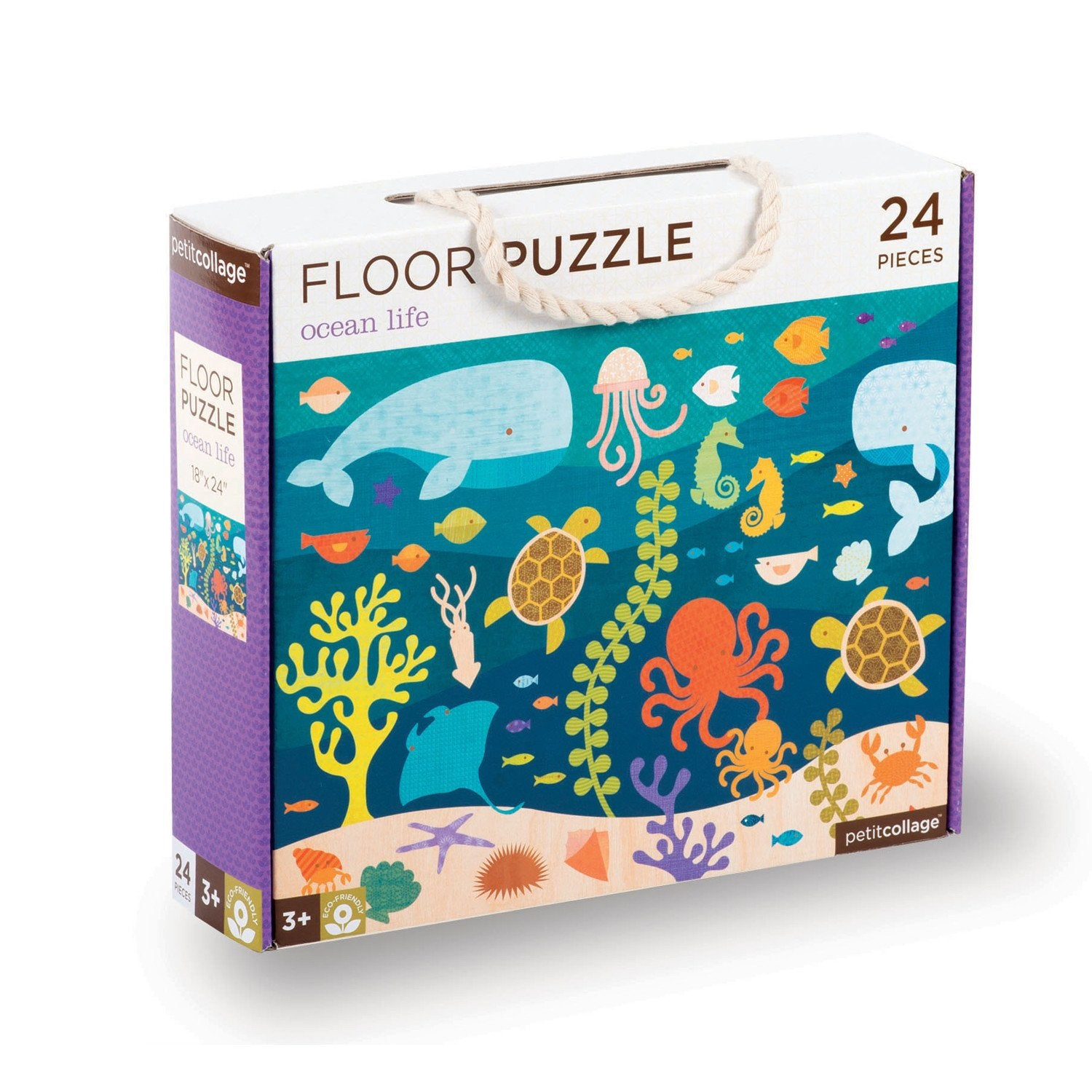 Petit Collage Floor Puzzles Petit Collage Puzzles Ocean Life at Little Earth Nest Eco Shop