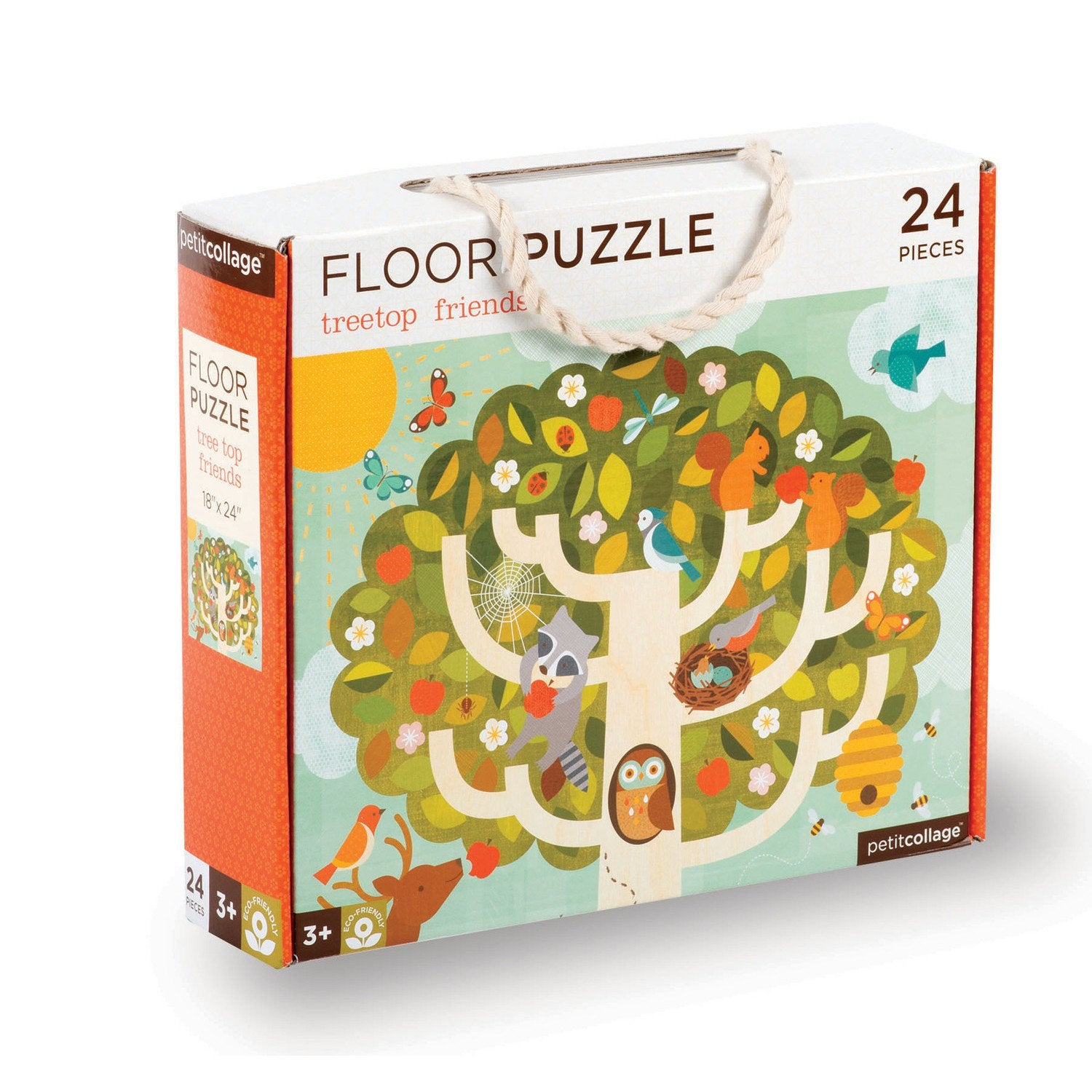 Petit Collage Floor Puzzles Petit Collage Puzzles Treetop Friends at Little Earth Nest Eco Shop