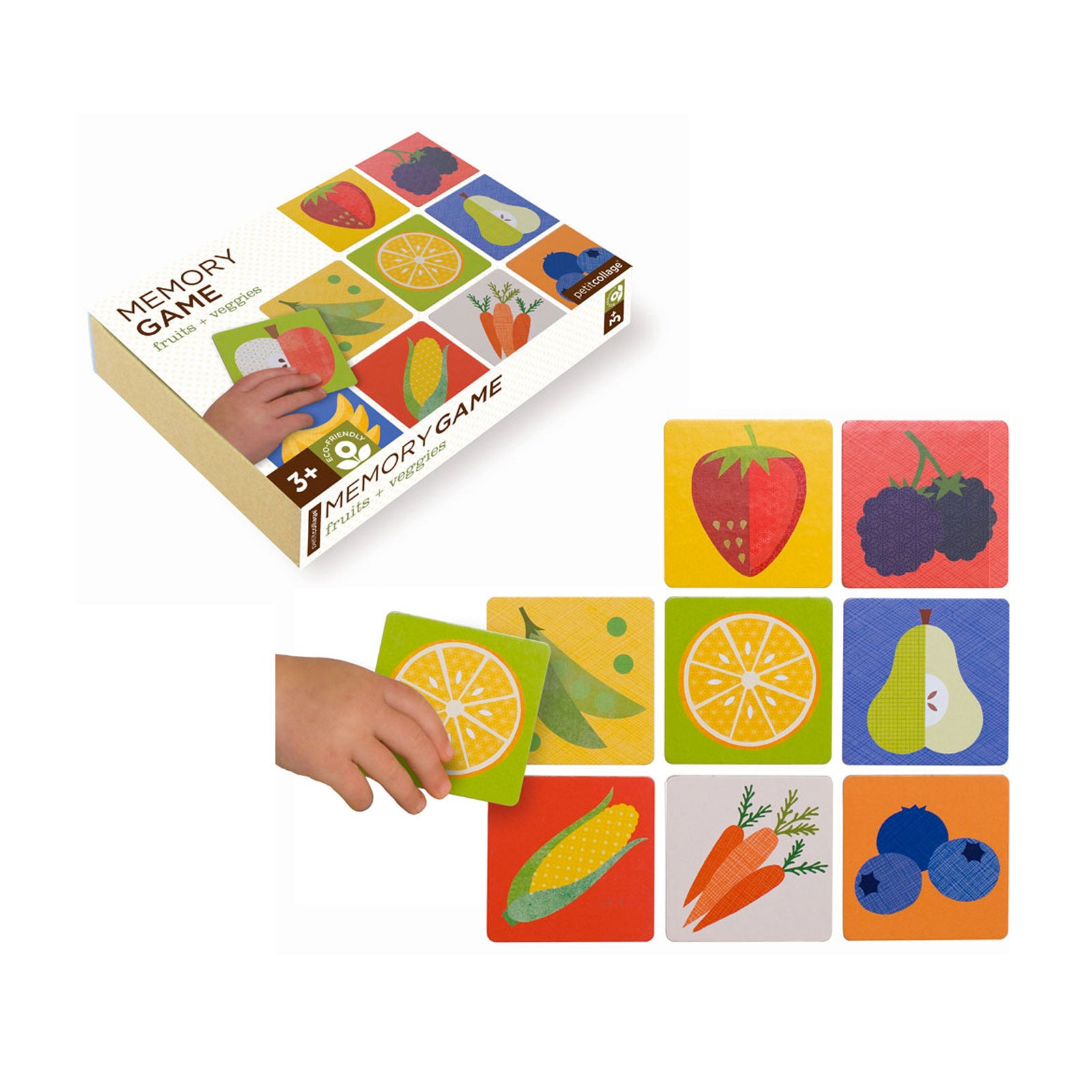Petit Collage Memory Game Petit Collage Games Fruit and Veg at Little Earth Nest Eco Shop