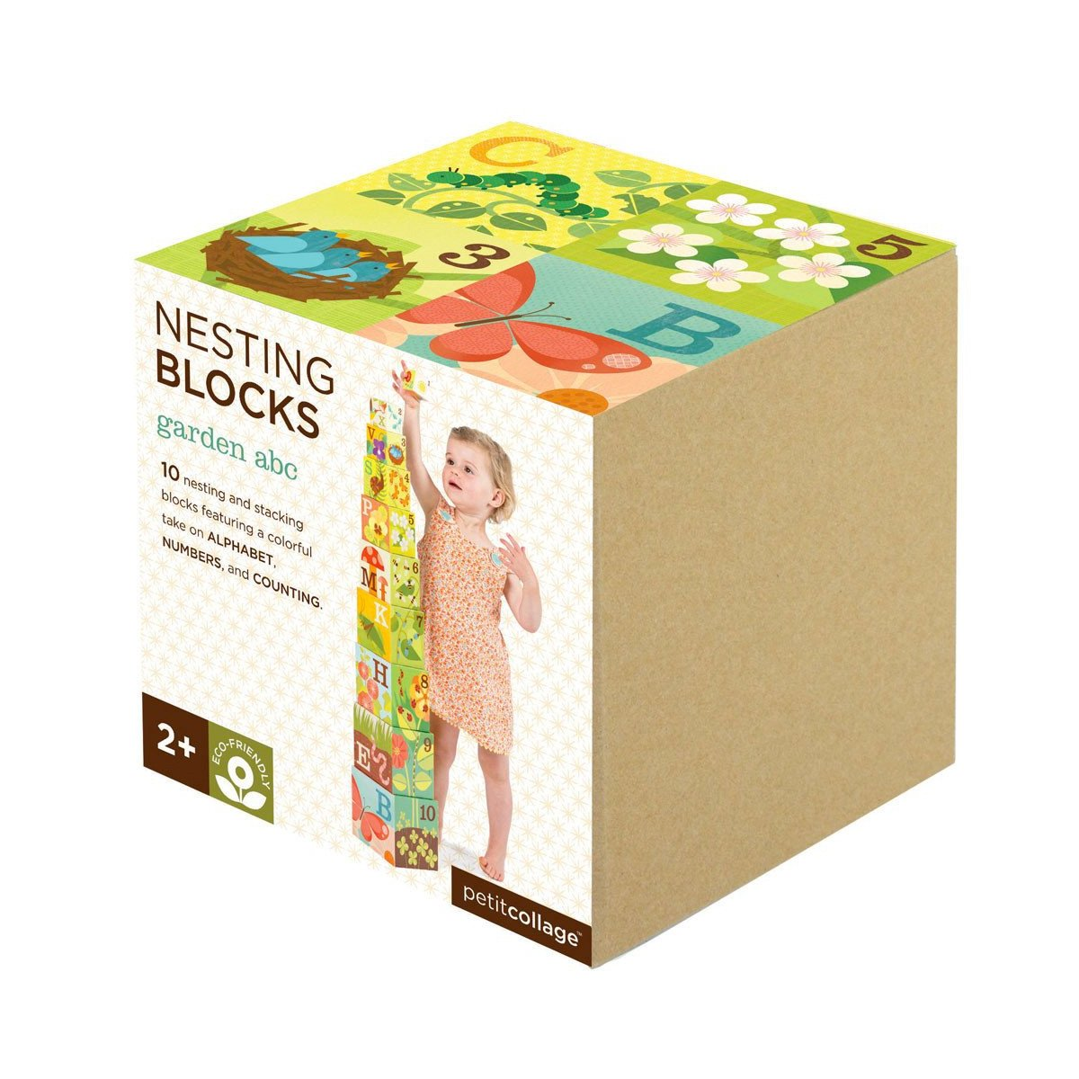 Petit Collage Nesting Blocks Petit Collage Activity Toys Garden ABC at Little Earth Nest Eco Shop