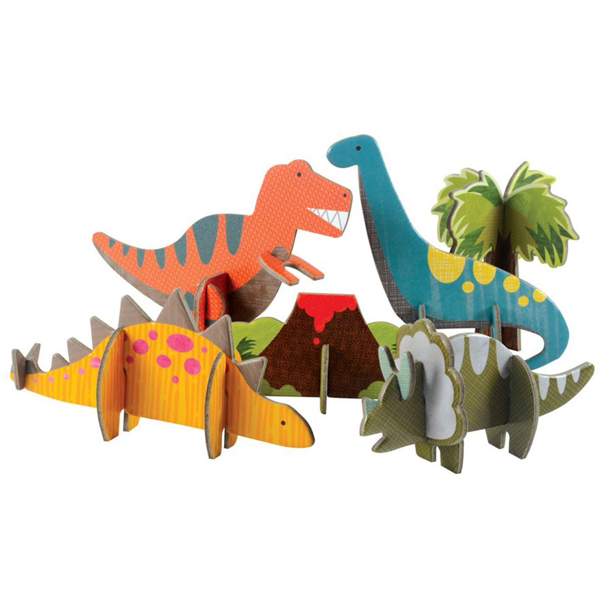 Petit Collage Pop Out and Play Pack  Dinosaurs - Petit Collage - Little Earth Nest - 1
