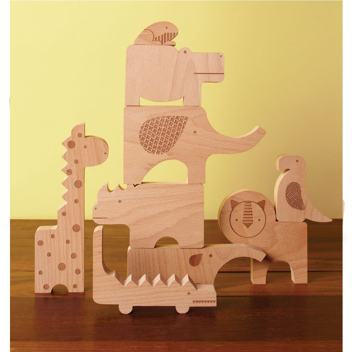 Petit Collage Safari Jumble Wooden Puzzle Petit Collage Puzzles Safari Jumble at Little Earth Nest Eco Shop