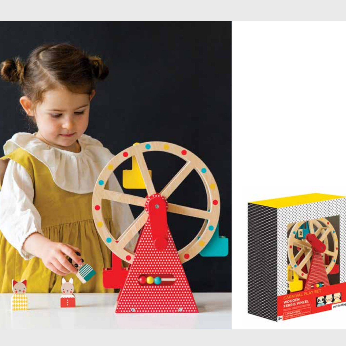 Petit Collage Wooden Ferris Wheel Petit Collage Toys at Little Earth Nest Eco Shop