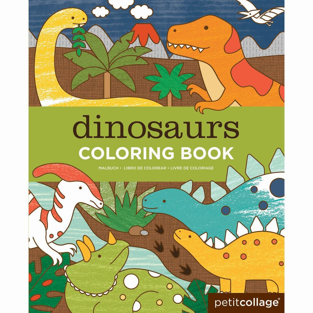 Petit Collage Colouring Book Petit Collage Books Dinosaurs at Little Earth Nest Eco Shop
