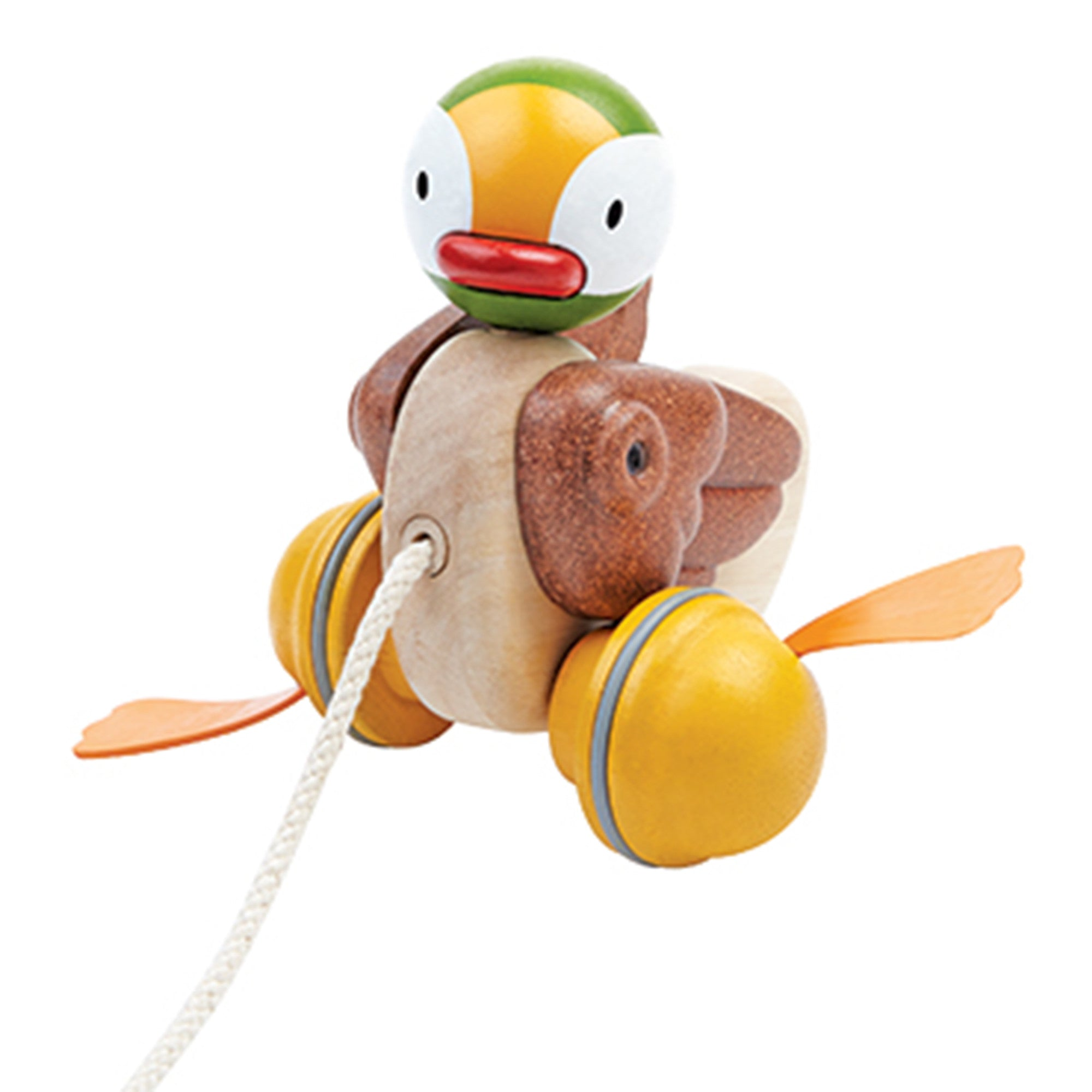 Plan Toy Pull Along Duck PlanToys Toys at Little Earth Nest Eco Shop