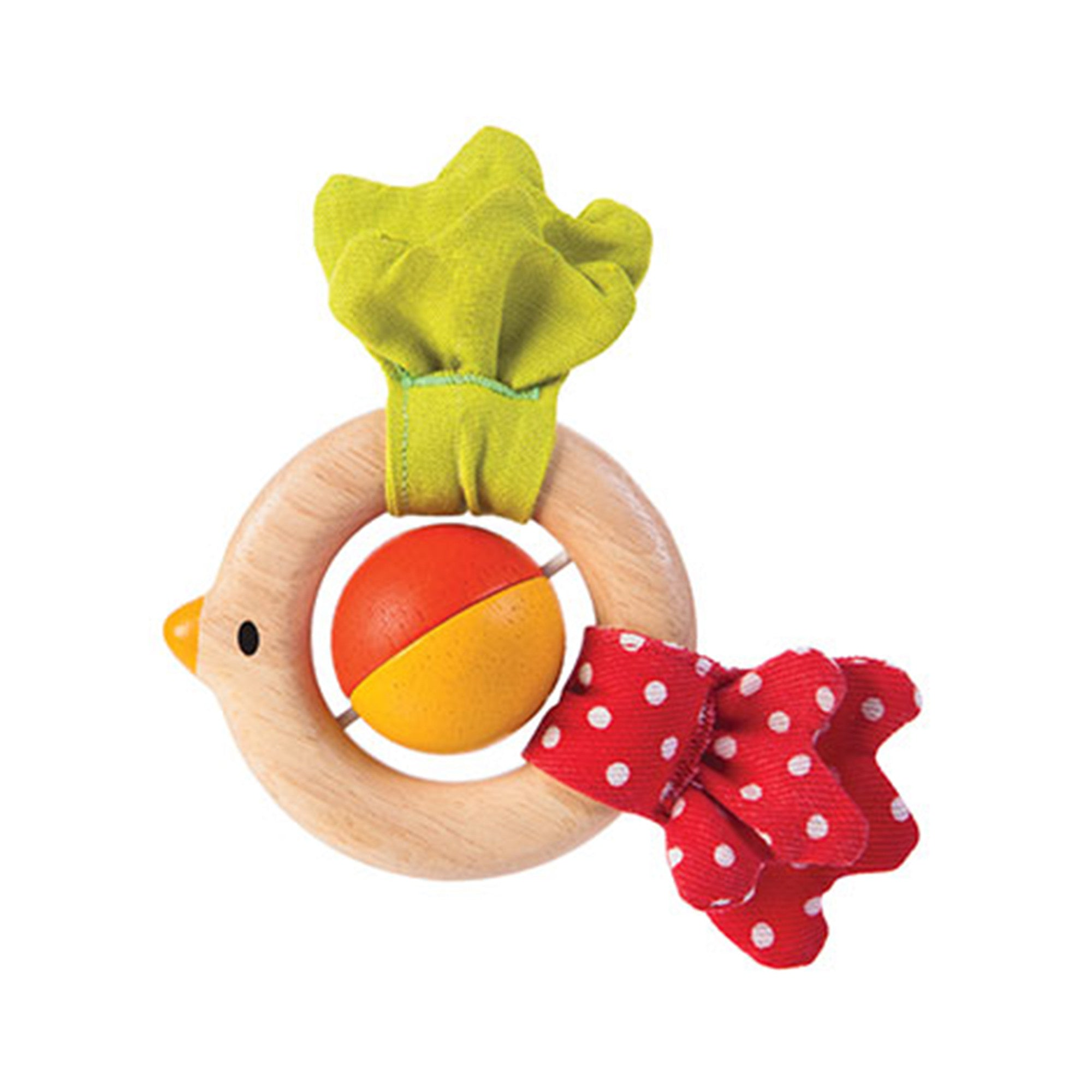 Plan Toys Bird Rattle PlanToys Rattles at Little Earth Nest Eco Shop