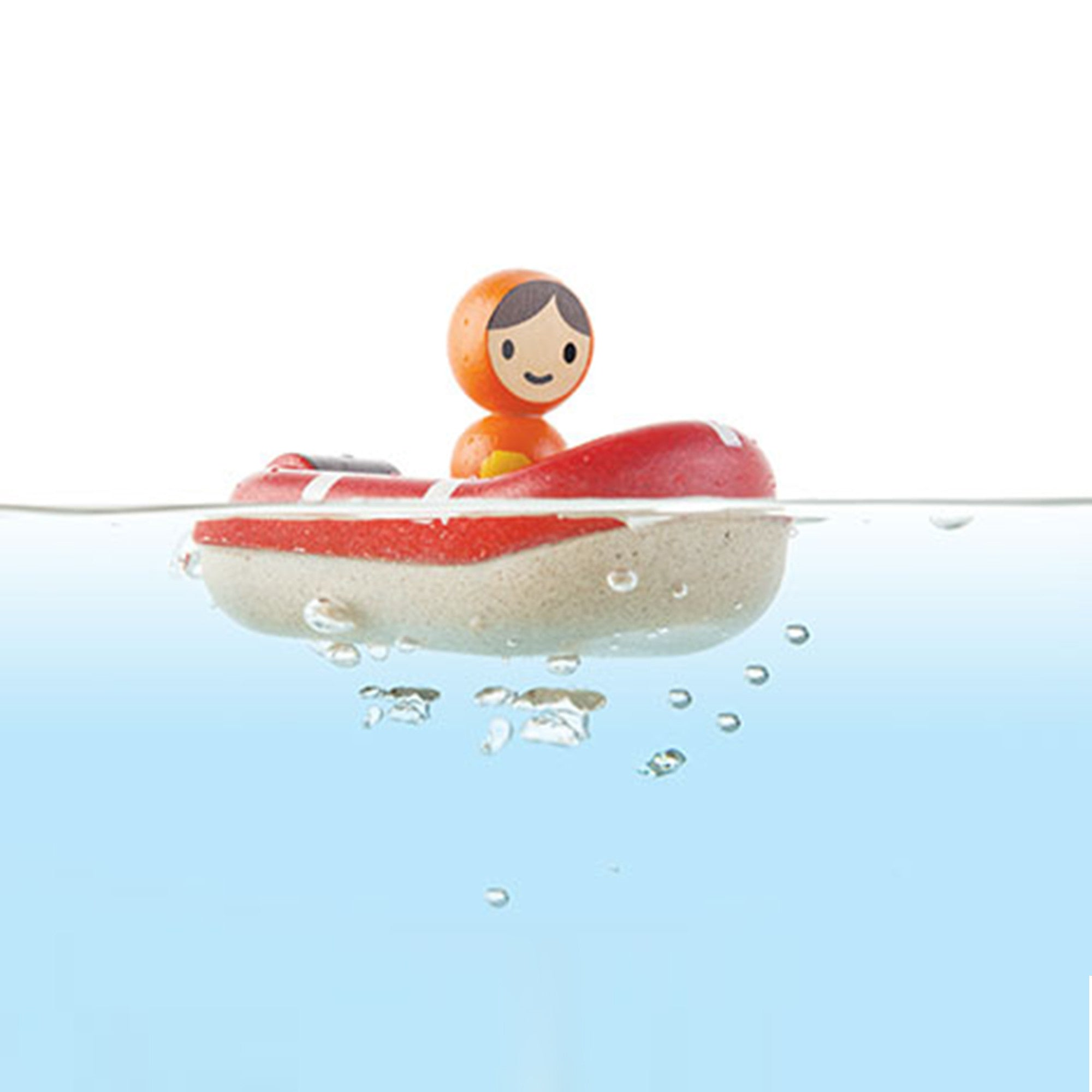 Plan Toys Coast Guard Boat   - PlanToys - Little Earth Nest