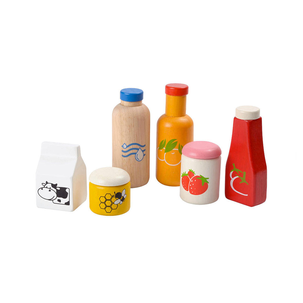 Plan Toys Food and Beverage Set PlanToys Toy Kitchens & Play Food at Little Earth Nest Eco Shop