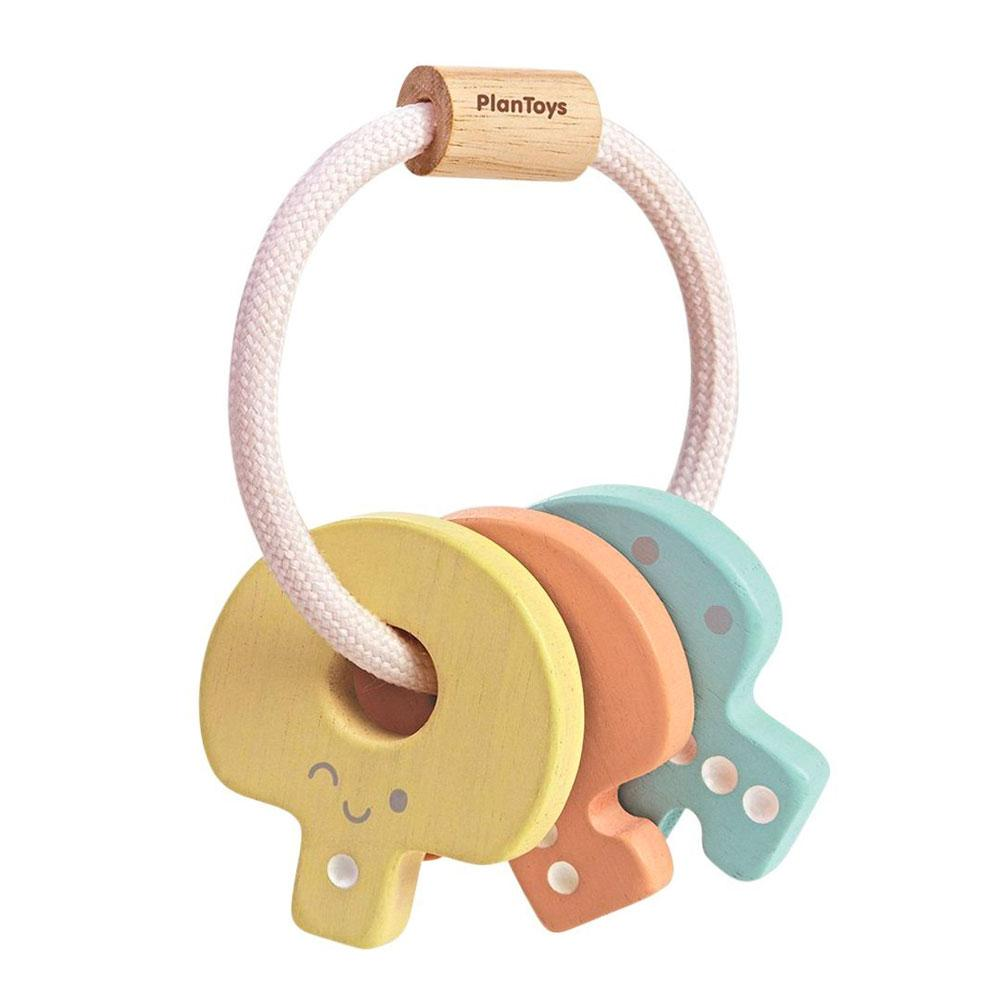 plan toys key rattle pastel