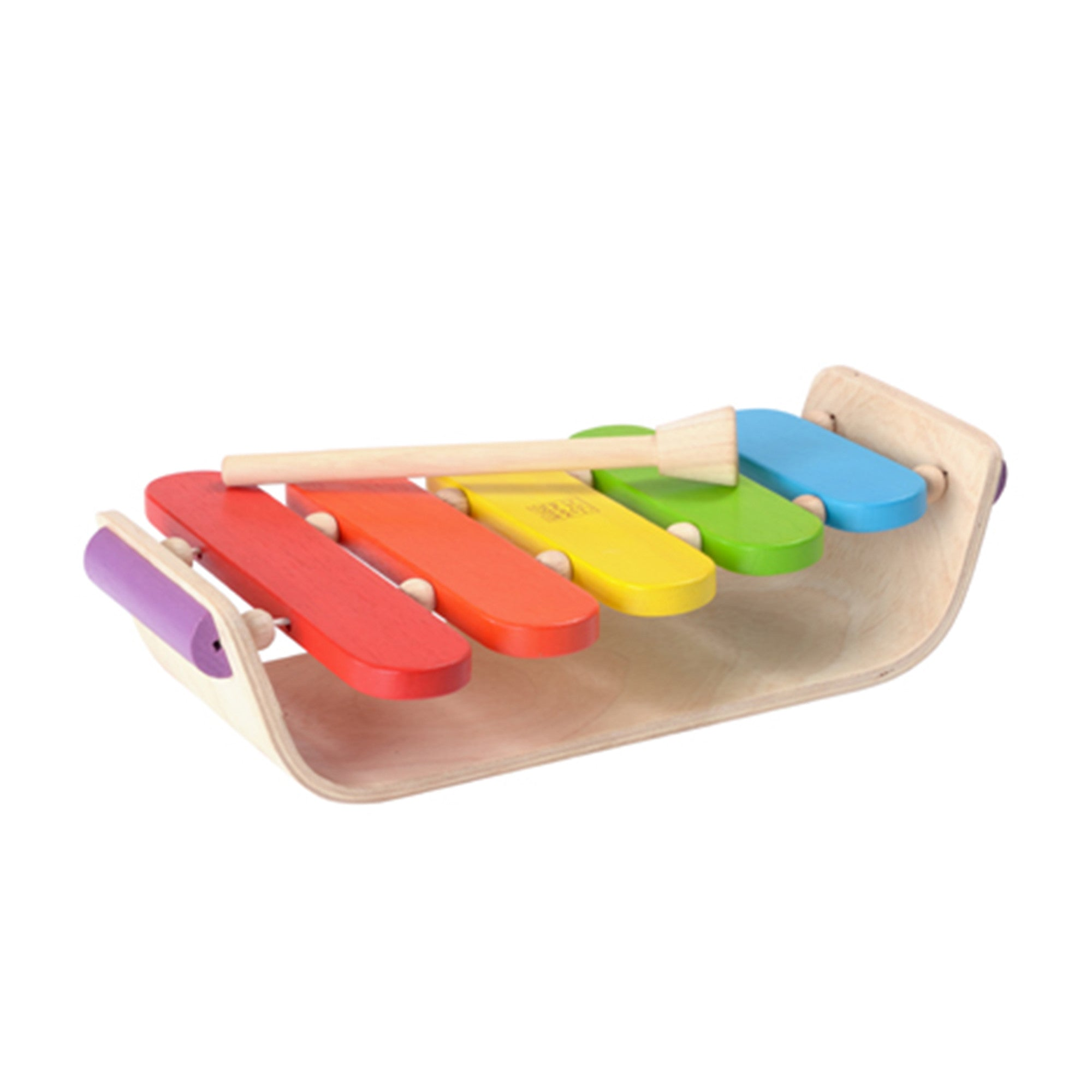 Plan Toys Oval Rainbow Xylophone PlanToys Musical Toys at Little Earth Nest Eco Shop