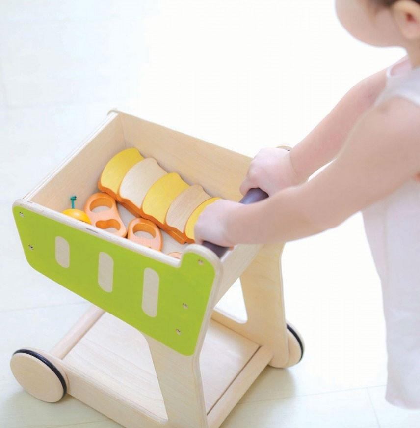 PlanToys Shopping Cart PlanToys Pretend Play at Little Earth Nest Eco Shop