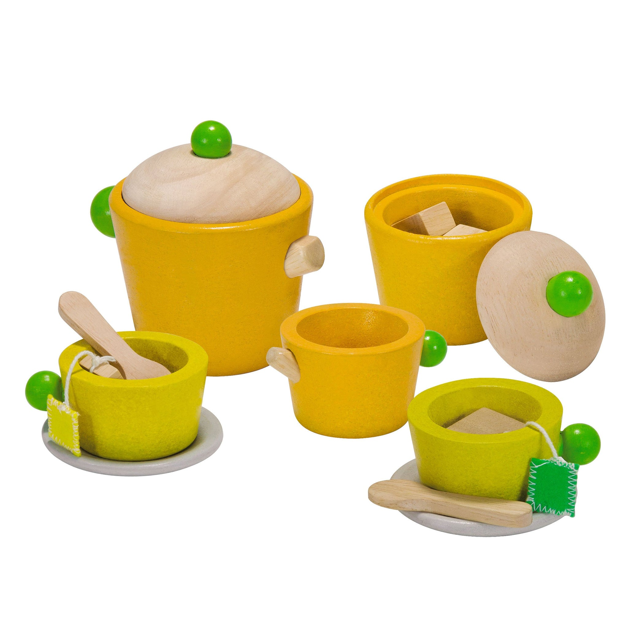Plan Toys Tea Set PlanToys Toy Kitchens & Play Food at Little Earth Nest Eco Shop
