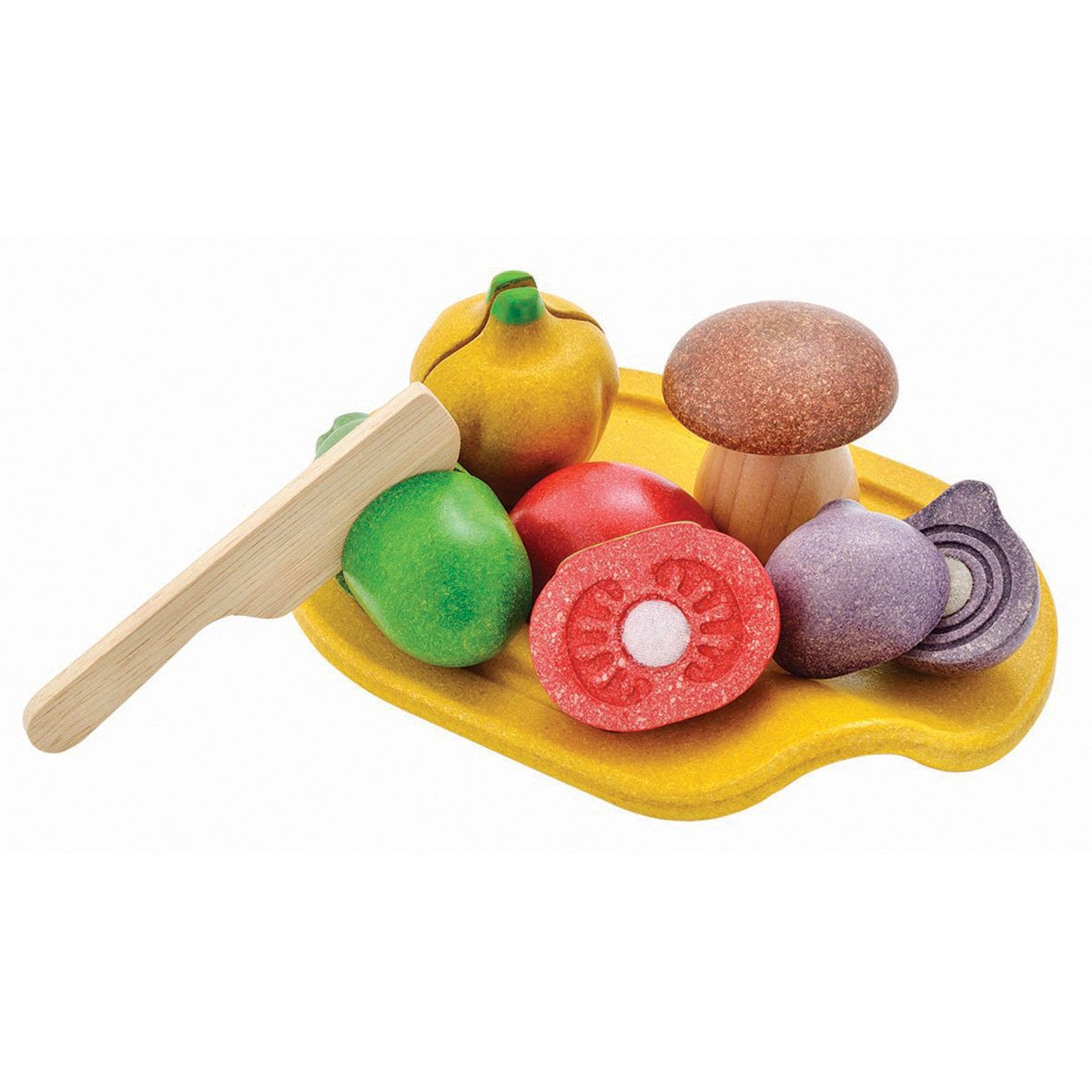 Plan Toys Assorted Vegetable Set PlanToys Pretend Play at Little Earth Nest Eco Shop