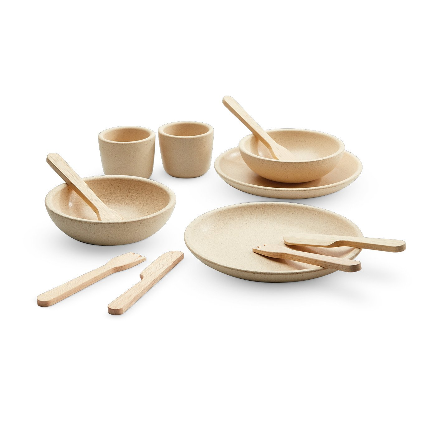 Plan Toys Tableware Set PlanToys Pretend Play at Little Earth Nest Eco Shop