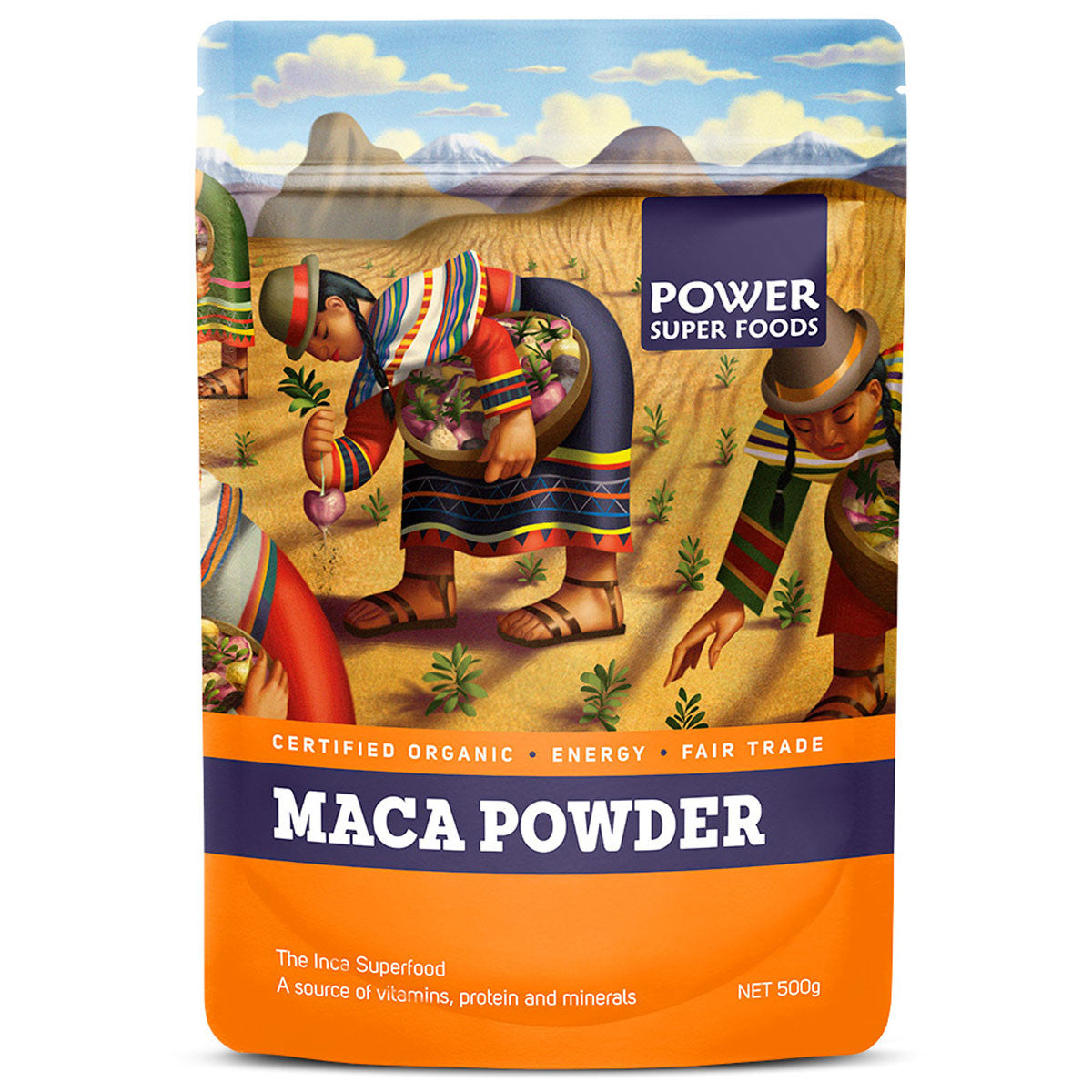 Power Super Foods Maca Powder Power Super Foods General 500g at Little Earth Nest Eco Shop