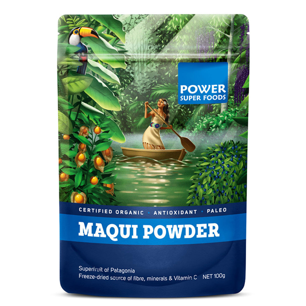 Power Super Foods Macqui Powder  100g - Power Super Foods - Little Earth Nest - 1