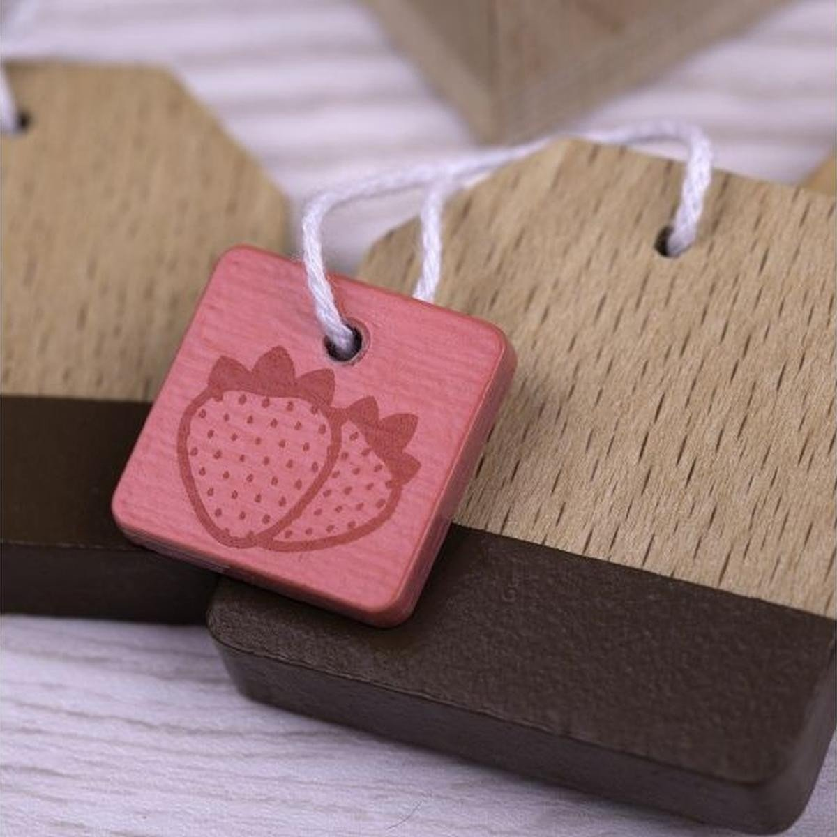 Wooden Toy Tea Bags Set Big Jigs Toys Pretend Play at Little Earth Nest Eco Shop