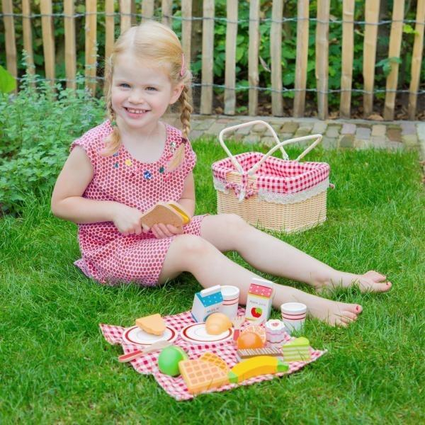 New Classic Toys Picnic Basket Set New Classic Toys Pretend Play at Little Earth Nest Eco Shop