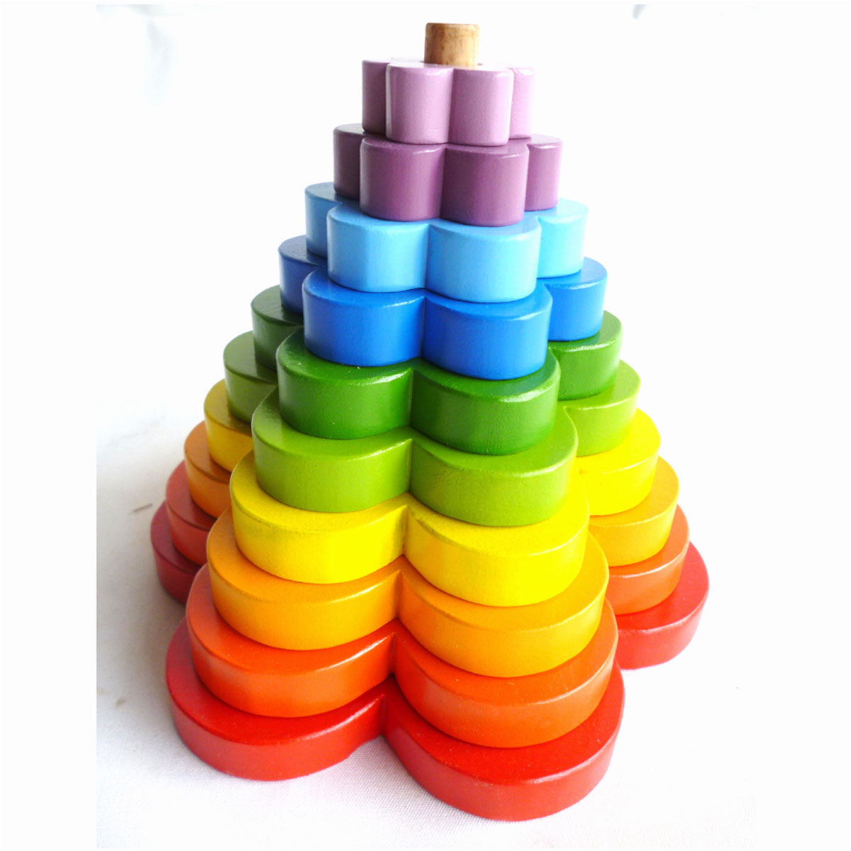 QToys Stacking Flower Toy QToys Toys at Little Earth Nest Eco Shop