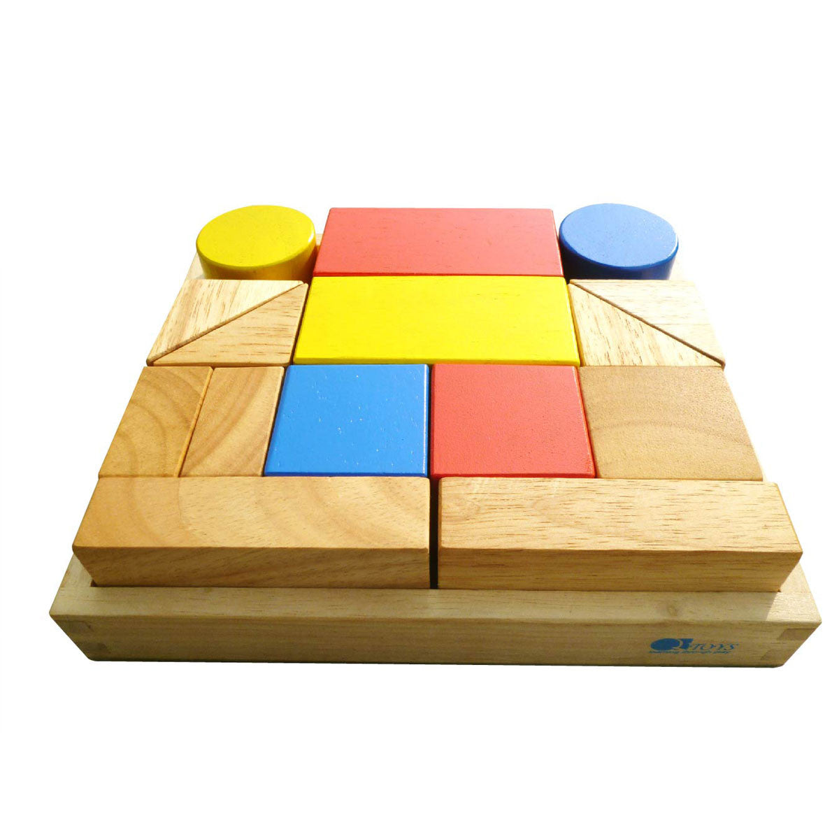 QToys Wooden Sound Blocks QToys Wooden Blocks 15 Pieces at Little Earth Nest Eco Shop