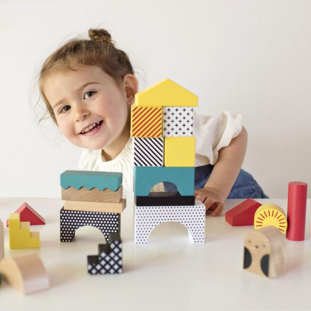 Petit Collage Animal Town Wooden Block Set