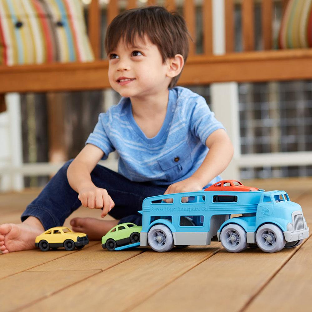 Green Toys Car Carrier Green Toys Toy Cars at Little Earth Nest Eco Shop