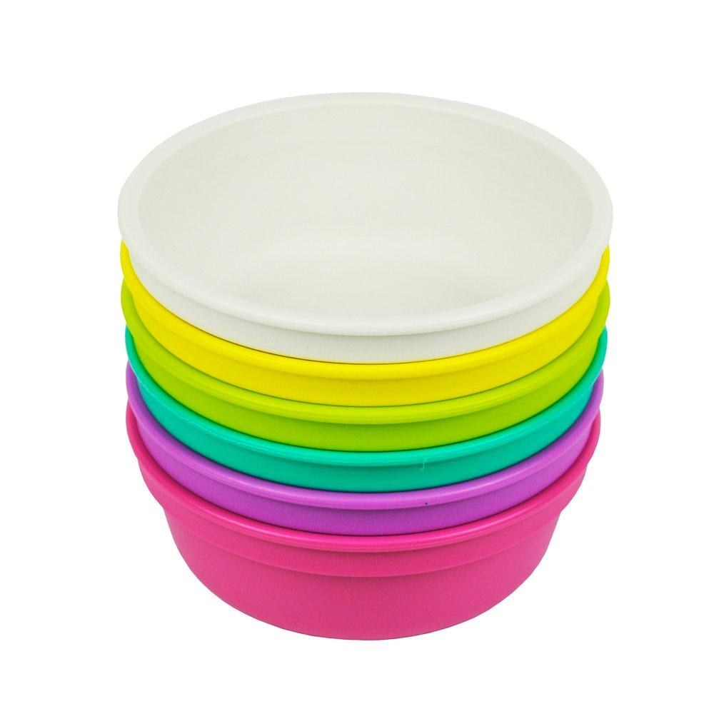 Replay 6 Piece Sets in Bright Replay Dinnerware Bowl at Little Earth Nest Eco Shop