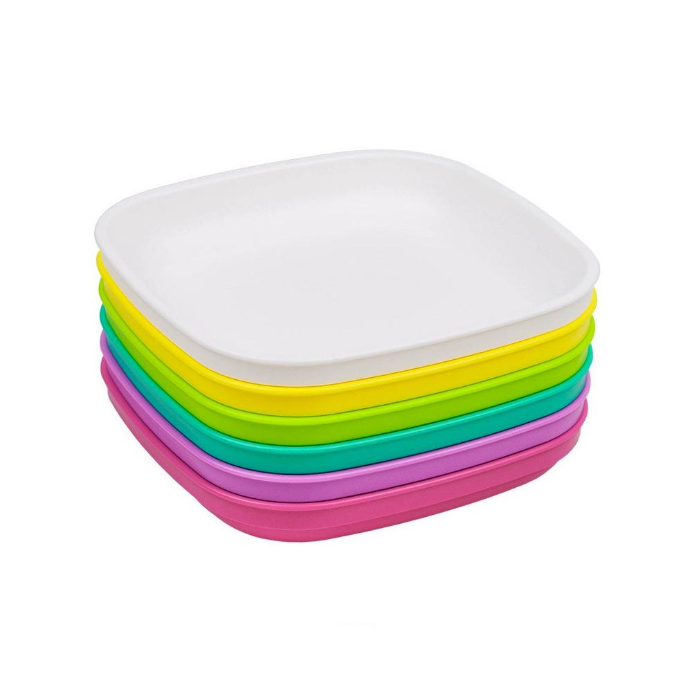 Replay 6 Piece Sets in Bright Replay Dinnerware Plate at Little Earth Nest Eco Shop