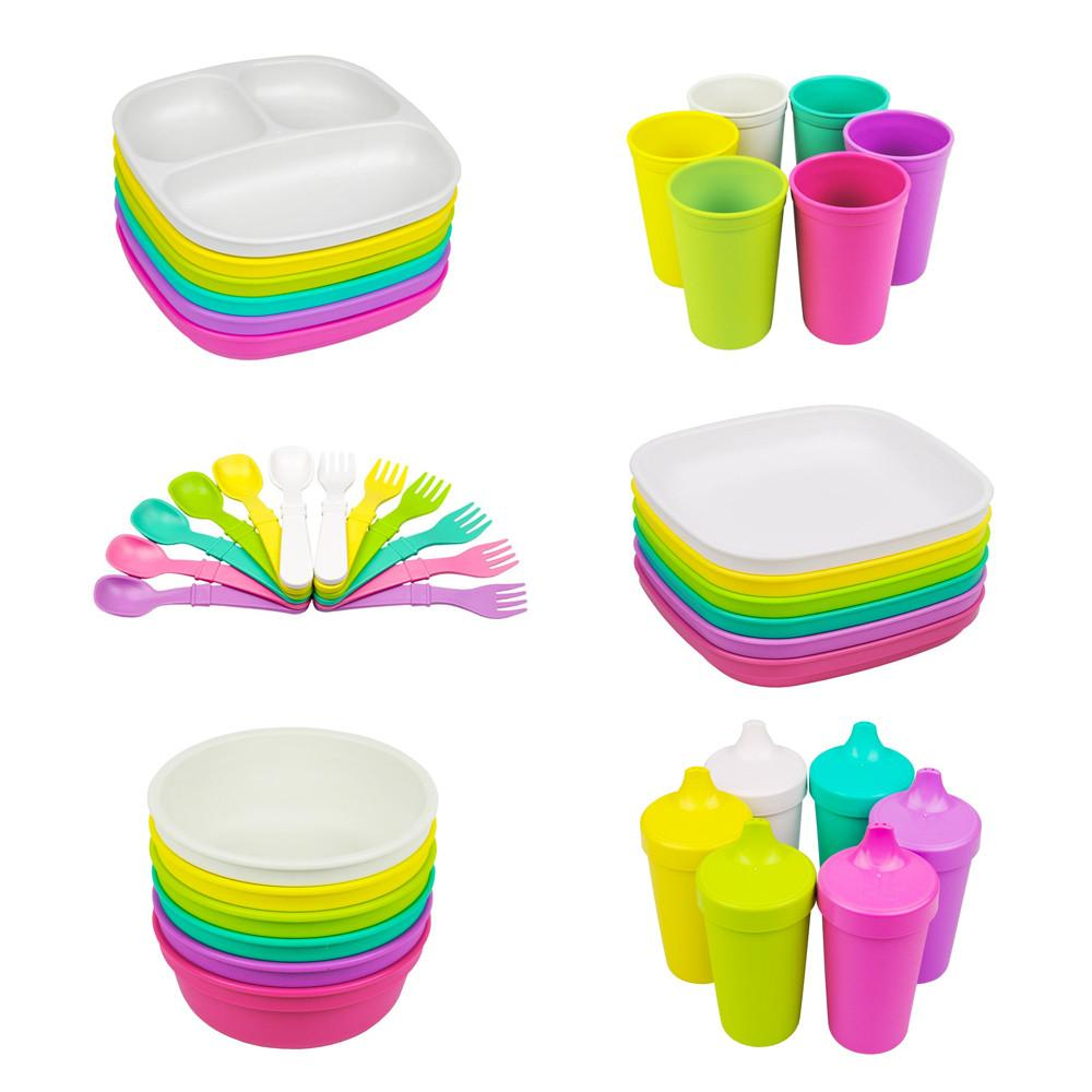 Replay 6 Piece Sets in Bright Replay Dinnerware at Little Earth Nest Eco Shop