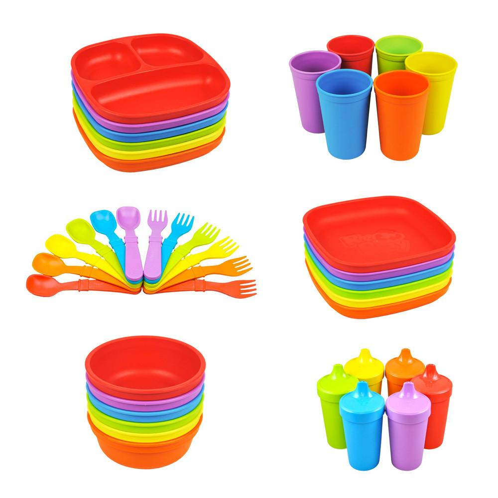 Replay 6 Piece Sets Colour Wheel Replay Dinnerware at Little Earth Nest Eco Shop