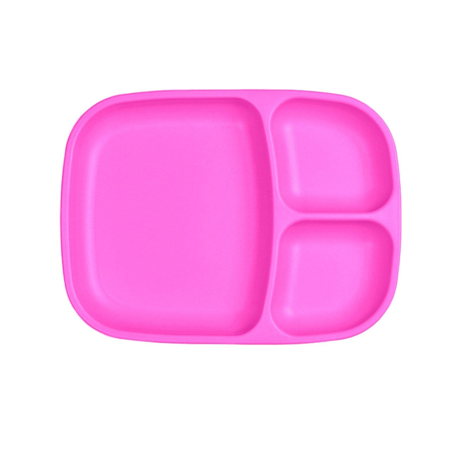 Replay Large Divided Plate Replay Dinnerware Bright Pink at Little Earth Nest Eco Shop