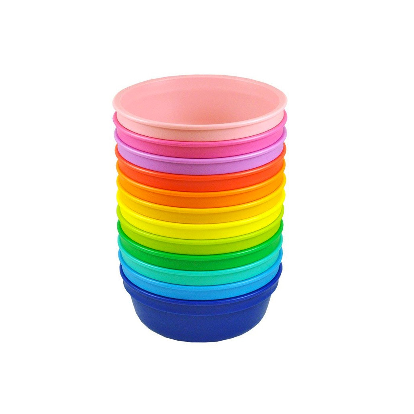 Replay 12 Piece Sets Rainbow Replay Dinnerware Bowl at Little Earth Nest Eco Shop