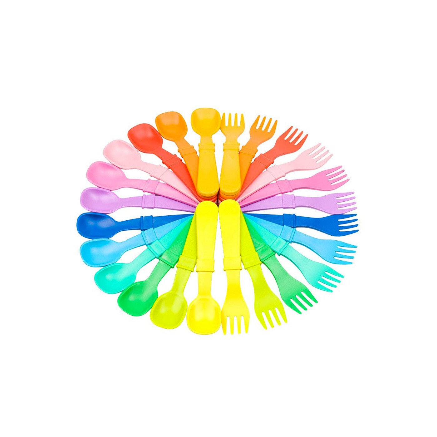 Replay 12 Piece Sets Rainbow Replay Dinnerware Utensils at Little Earth Nest Eco Shop