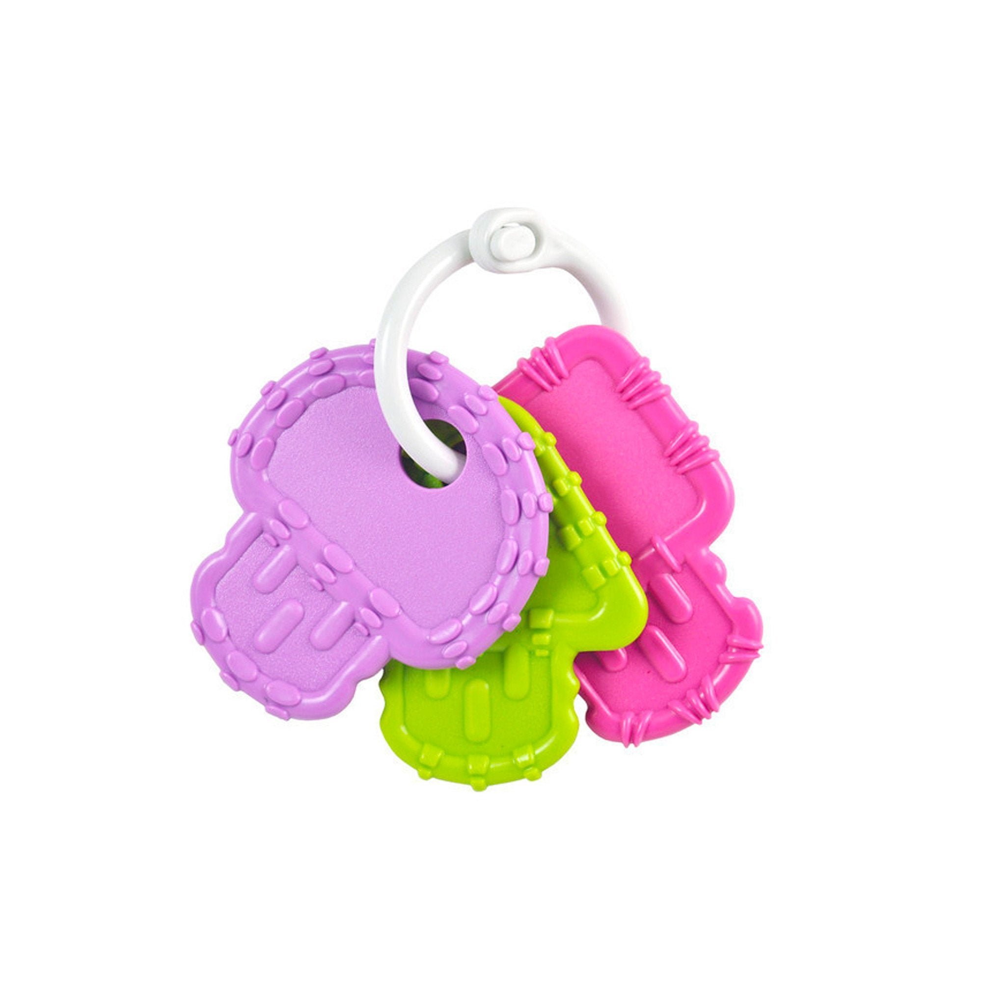 Replay Teether Key Set - BPA Free Recycled Plastic Replay Dummies and Teethers Pinks at Little Earth Nest Eco Shop