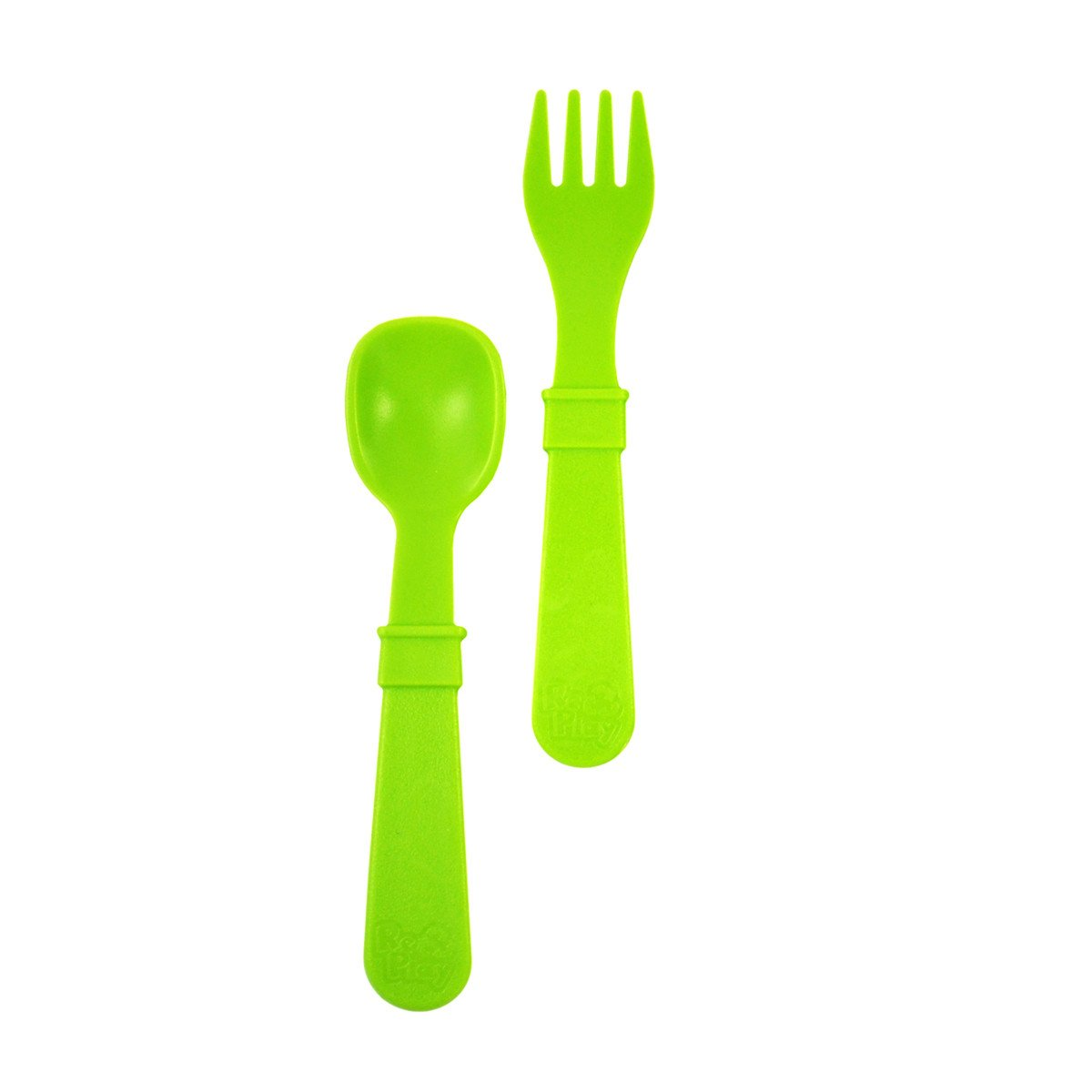 Replay Fork and Spoon Set Replay Lifestyle Light Green at Little Earth Nest Eco Shop