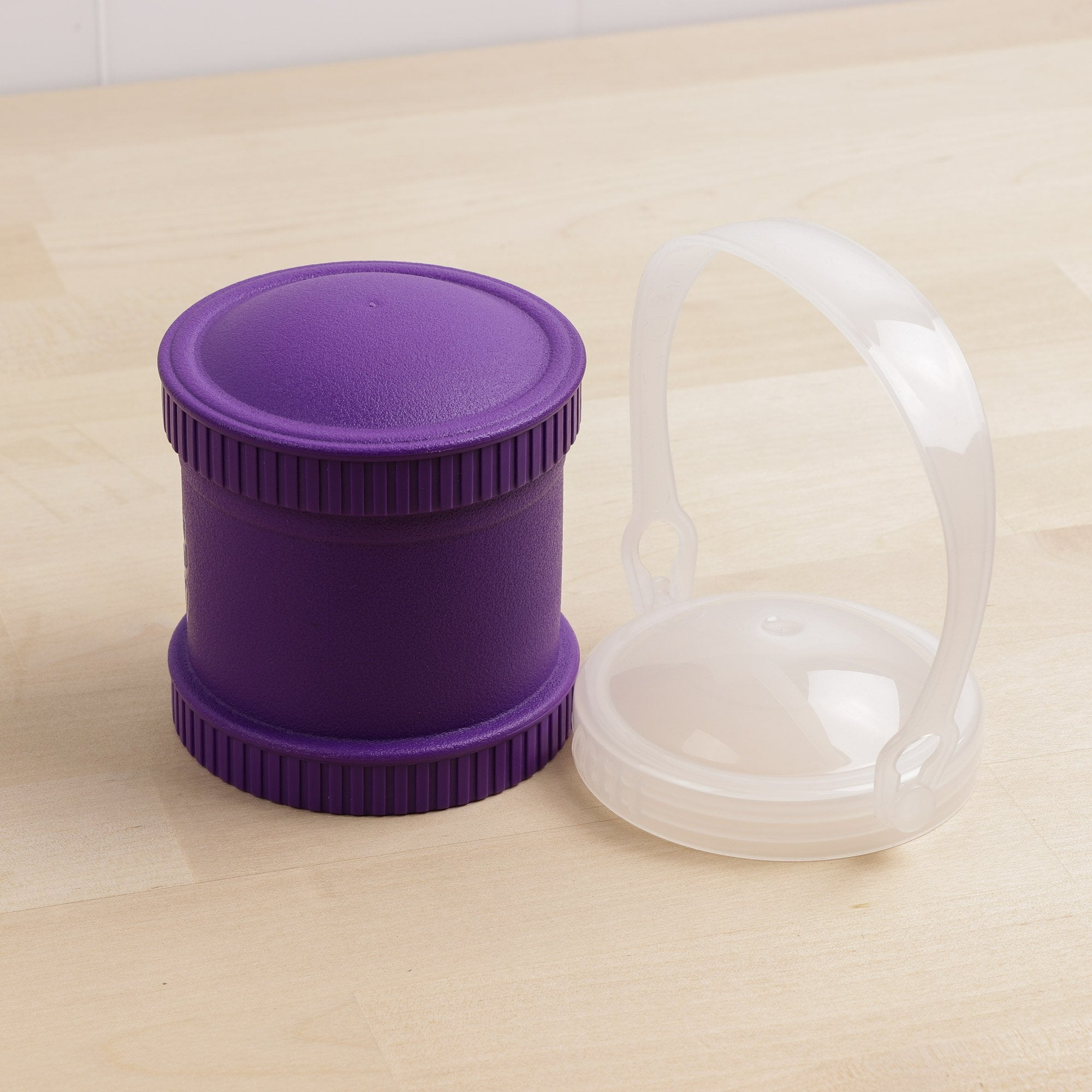Replay Single Snack Stack with Dual Lid Set Replay Dinnerware Amethyst at Little Earth Nest Eco Shop