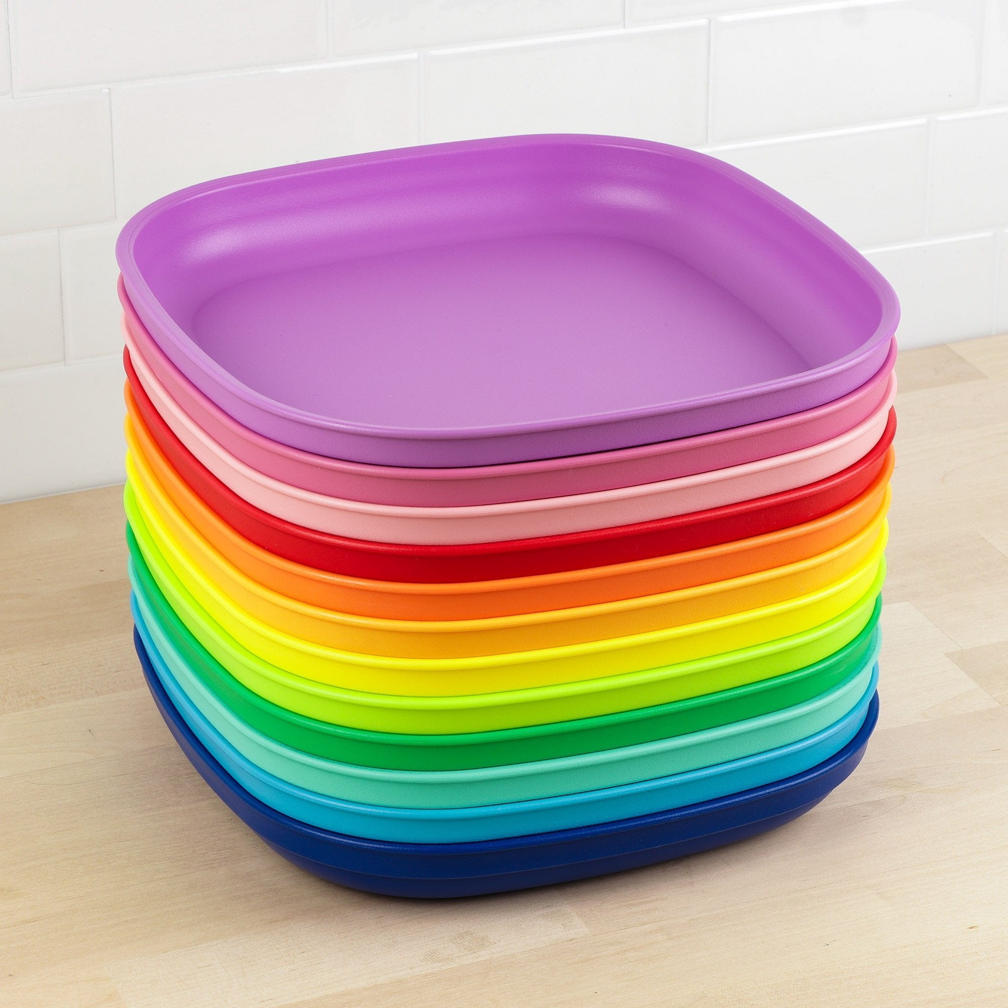 Replay 12 Piece Sets Rainbow Replay Dinnerware Large Plates at Little Earth Nest Eco Shop