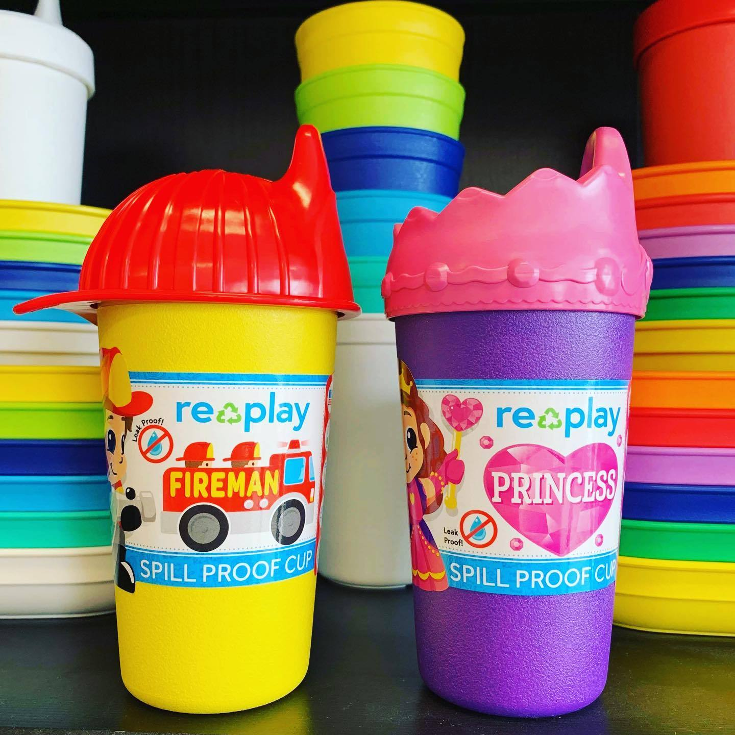 Replay Fireman Sippy Cup Replay Dinnerware at Little Earth Nest Eco Shop